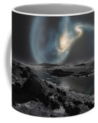 The Collision Of The Milky Way Coffee Mug by Ron Miller
