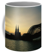 The Cologne Cathedral And Hohenzollern Coffee Mug