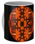 The Color Orange Mandala Abstract Coffee Mug