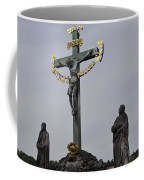 The Crucifix And Calvary - Prague Coffee Mug