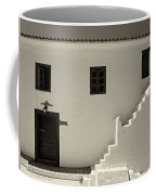 The Door Of The Chappel Bw Coffee Mug