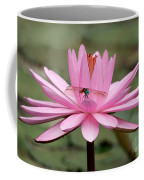 The Dragonfly And The Pink Water Lily Coffee Mug