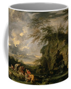 The Finding Of Moses Coffee Mug by Salvator Rosa