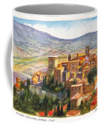 The Fortified Walled Village Of Gualdo Cattaneo Umbria Italy Coffee Mug