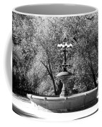 The Fountain In Black And White Coffee Mug