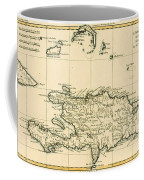 The French And Spanish Colony Of The Island Of St Dominic Of The Greater Antilles Coffee Mug by Guillaume Raynal