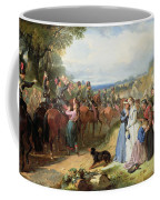 The Girls We Left Behind Us - The Departure Of The 11th Hussars For India Coffee Mug by Thomas Jones Barker