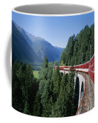 The Glacier Express Crosses A Bridge Coffee Mug by Taylor S. Kennedy