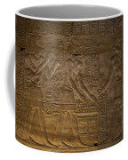 The Gods Horus, Hathor And The Pharaoh Coffee Mug by Taylor S. Kennedy
