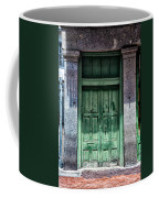 The Green Door In The French Quarter Coffee Mug