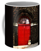 The Guitar And The Red Door Coffee Mug
