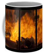 The Home Fires Are Burning Triptych Coffee Mug