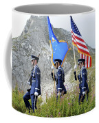 The Honor Guard Posts The Colors Coffee Mug