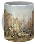 The Household Cavalry In Peascod Street Windsor Coffee Mug by Louise J Rayner