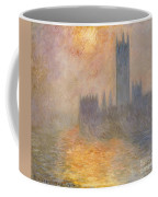 The Houses Of Parliament At Sunset Coffee Mug