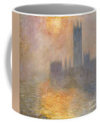 The Houses Of Parliament At Sunset Coffee Mug by Claude Monet