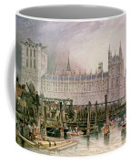 The Houses Of Parliament In Course Of Erection Coffee Mug