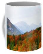 The Julian Alps In Autumn At Lake Bohinj Coffee Mug