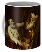 The Last Moments Of Christopher Columbus  Coffee Mug by Claude Jacquand