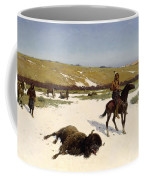 The Last Of The Herd Coffee Mug by Henry Francois Farny