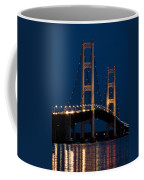 The Mackinaw Bridge At Night By The Straits Of Mackinac Coffee Mug