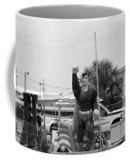 The Man Of Steel On I 95 Coffee Mug