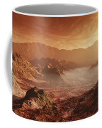 The Martian Sun Sets Over The High Coffee Mug