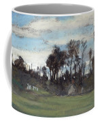 The Meadow Lined With Trees  Coffee Mug