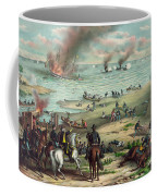 The Monitor And The Merrimac 1862 Coffee Mug by Photo Researchers