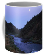 The Moon Appears Over The Rogue River Coffee Mug