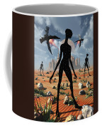 The Mysterious Black Shape Of Beings Coffee Mug