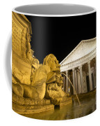 The Pantheon At Night. Piazza Della Rotonda.rome Coffee Mug