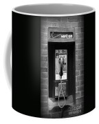The Payphone - Black And White Coffee Mug