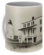 The Piney Point Lighthouse In Sepia Coffee Mug