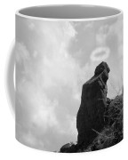 The Praying Monk With Halo - Camelback Mountain Bw Coffee Mug by James BO  Insogna