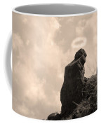The Praying Monk With Halo - Camelback Mountain Coffee Mug by James BO  Insogna