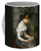 The Reader A Seated Young Girl  Coffee Mug by Pierre Auguste Renoir