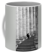 The Reader Amidst The Columns Bw Coffee Mug