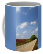 The Road Ahead Is Lined In Red Coffee Mug