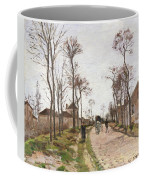 The Road To Saint Cyr At Louveciennes Coffee Mug by Camille Pissarro