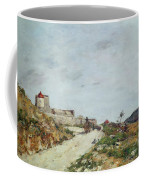 The Road To The Citadel At Villefranche Coffee Mug