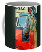 The Sea King Helicopter Used Coffee Mug by Luc De Jaeger