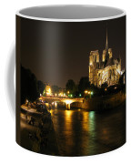 The Seine And Notre Dame At Night Coffee Mug