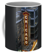 The Sign Outside The Chicago Theater Coffee Mug by Paul Damien