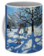 The Slide In Winter Coffee Mug by Andrew Macara