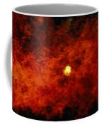 The Sun Peeks Through A Wall Of Flame Coffee Mug