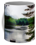 The Swimming Dock Coffee Mug by Michelle Calkins