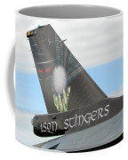 The Tail Of A Belgian F16 Aircraft Coffee Mug by Luc De Jaeger