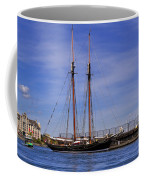 The Tall Ship Pacific Grace Based In Victoria Canada Coffee Mug by Louise Heusinkveld
