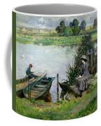 The Thames At Benson Coffee Mug